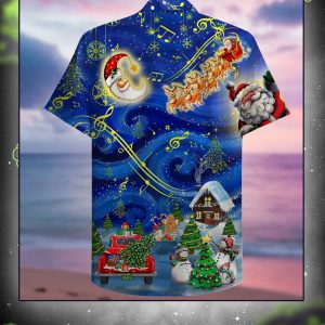 Christmas sky hawaiian shirt back