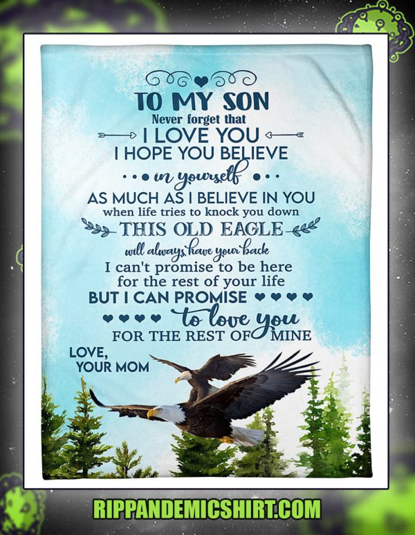 Eagle to my son your mom blanket