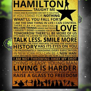 Lessons hamilton taught me poster