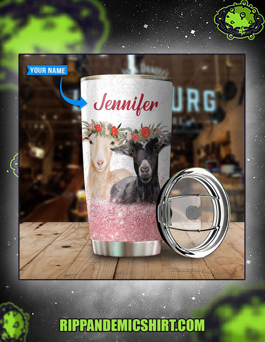 Personalized custom name just a girl who loves goats tumbler 20oz