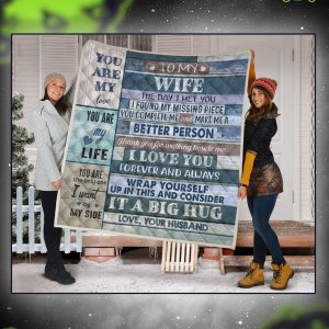 To my wife love your husband quilt