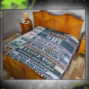 To my wife love your husband quilt twin