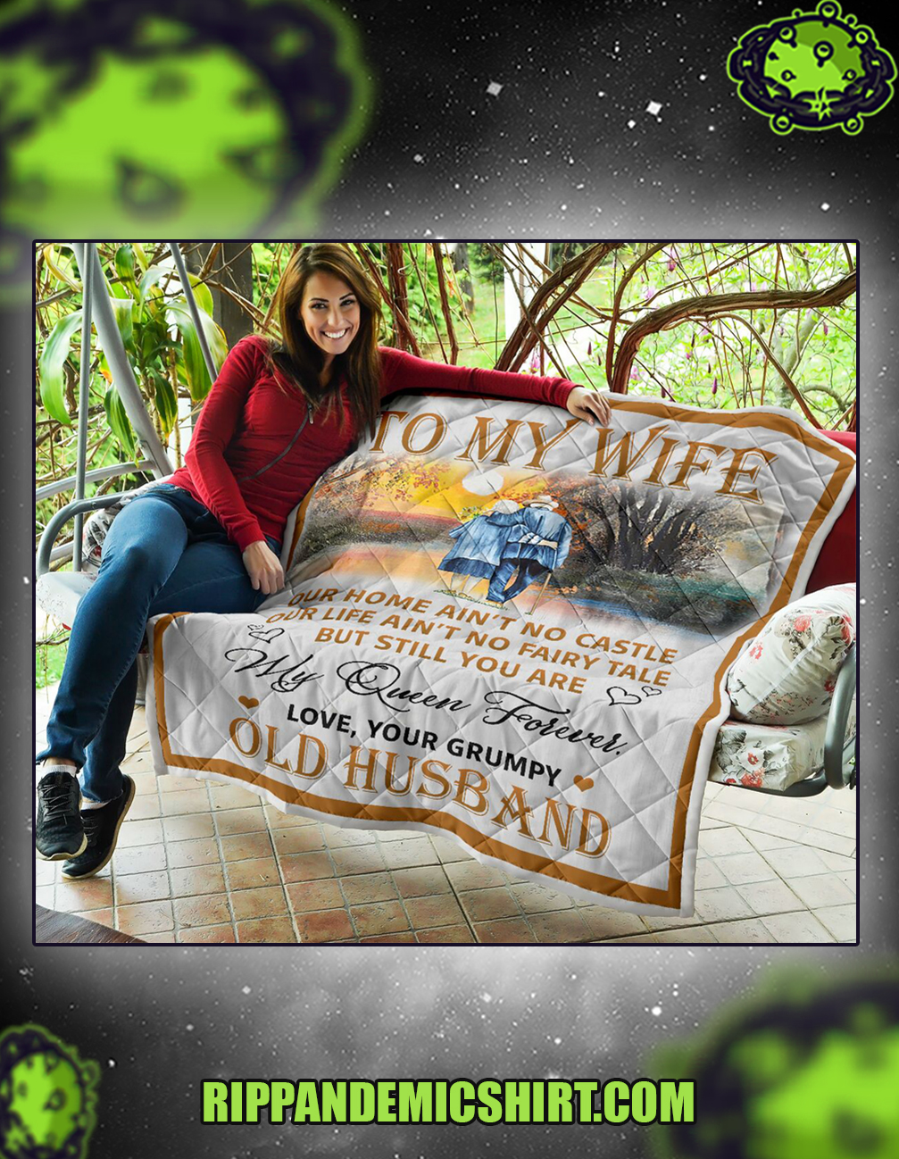 To my wife old husband quilt queen