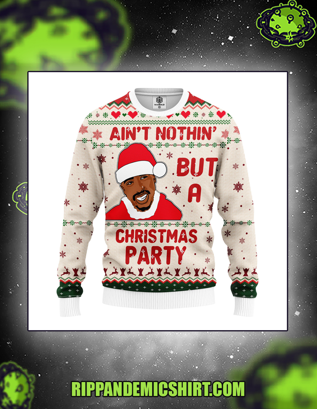 Ain't nothing but a christmas party sweater front
