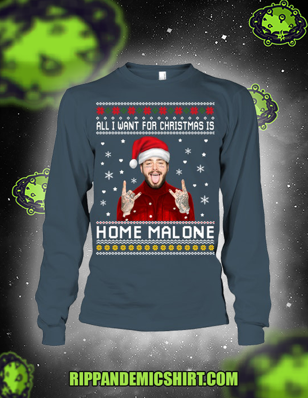All I want for christmas is home malone long sleeved