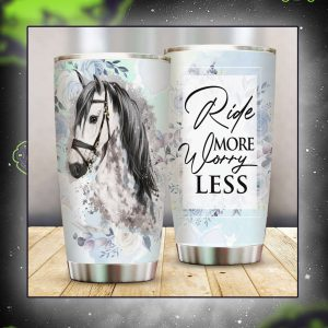 Horse ride more worry less tumbler