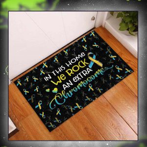 In this home we rock an extra chromosome doormat size M