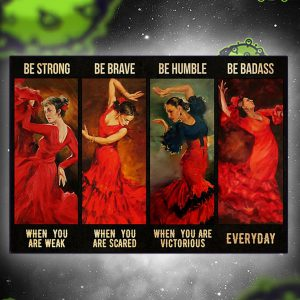 Latin dance Girl be strong poster
