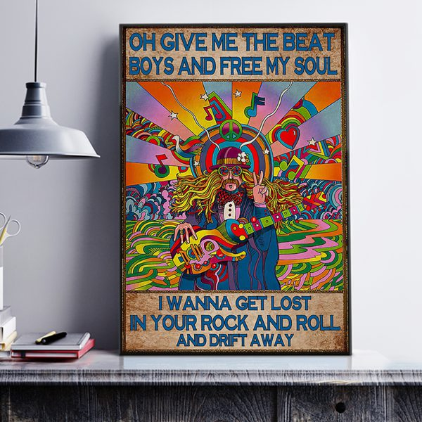 Oh give me the beat boys and free my soul poster A3