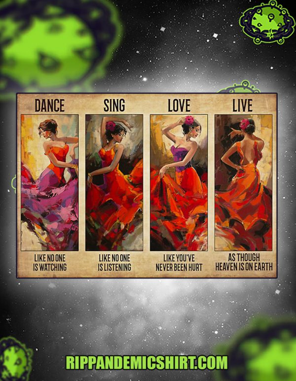 Latin dance sing love live poster