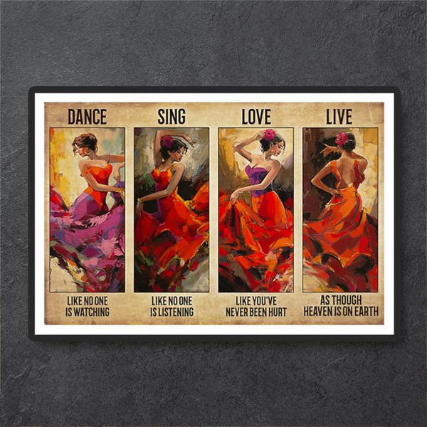 Latin dance sing love live poster A1