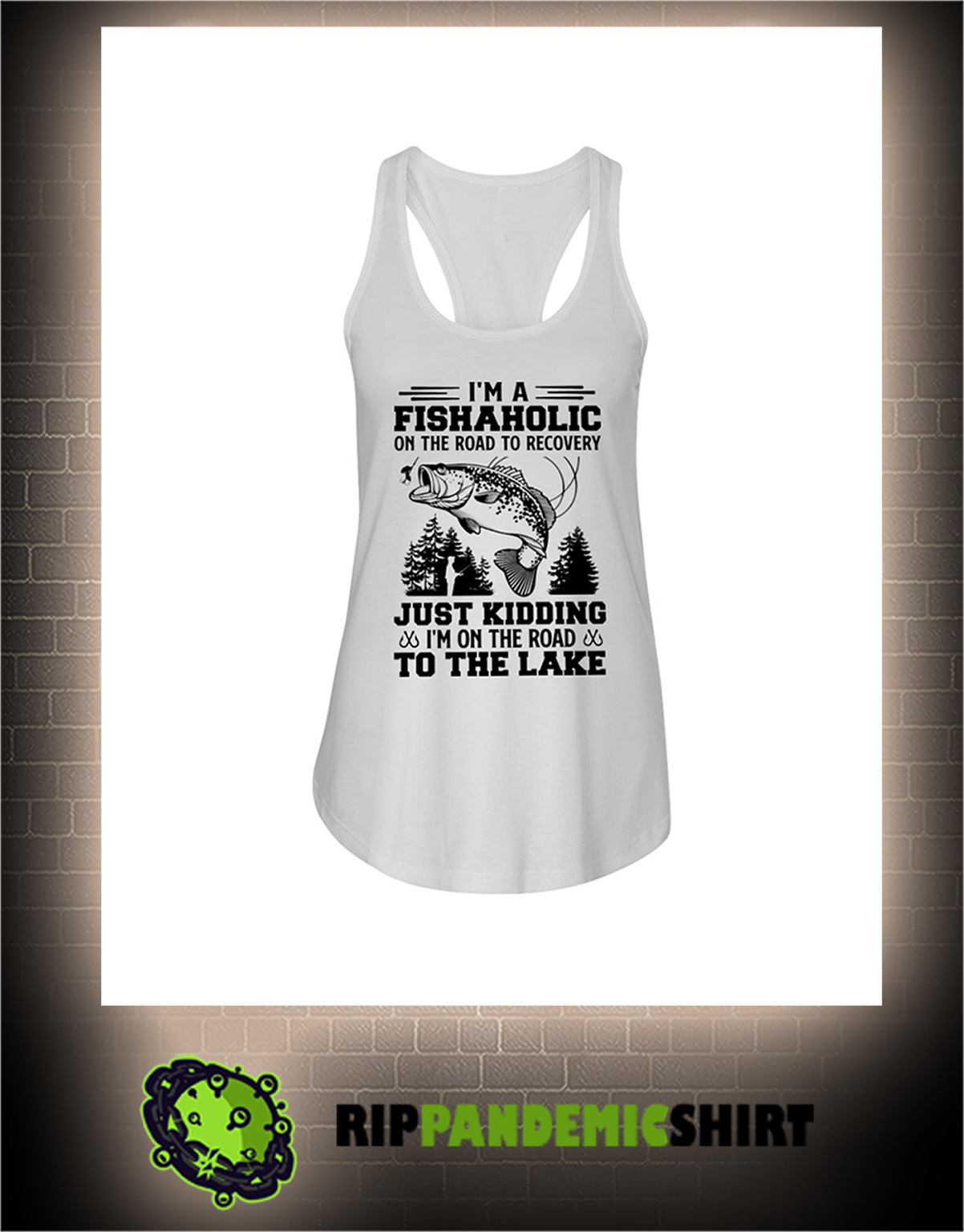 Fishing I'm a fishaholic on the road to recovery flowy tank