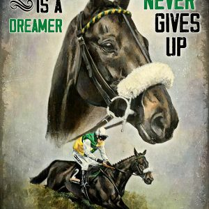 Horse racing a winner is a dreamer who never gives up poster