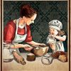 Mother and daughter baking partners for life poster