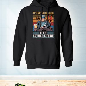 Vintage Skiing it's not a dad bob it's a father figure hoodie