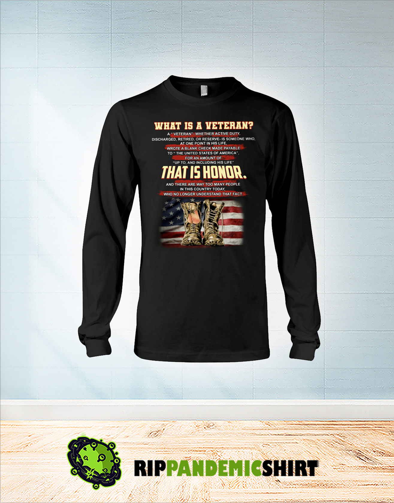 What is a veteran that is honor long sleeve