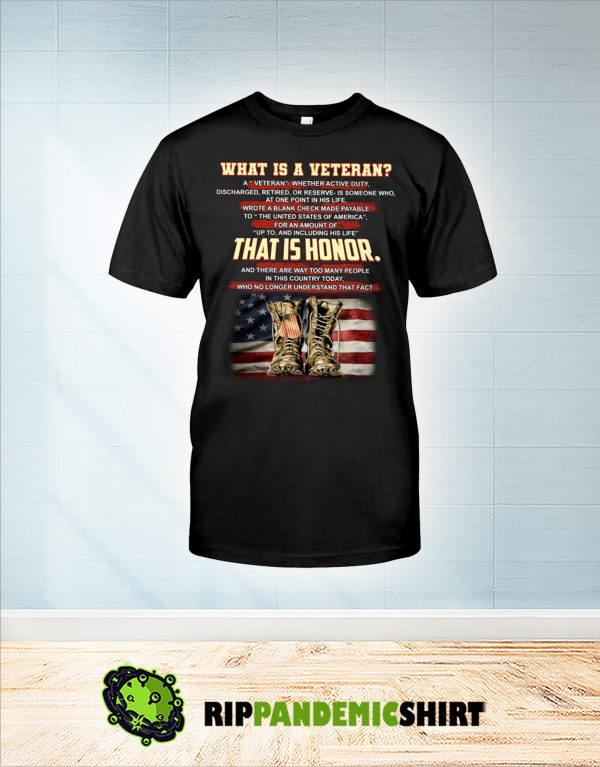 What is a veteran that is honor shirt