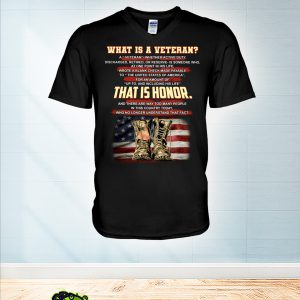 What is a veteran that is honor v-neck