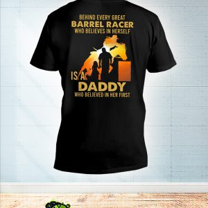 Behind every great barrel racer who believes in herself is a daddy v-neck