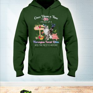 Cat Once upon a time I picked up a norwegian forest kitten hoodie