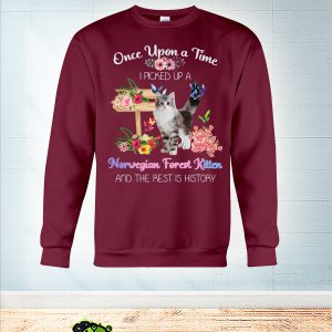 Cat Once upon a time I picked up a norwegian forest kitten sweatshirt